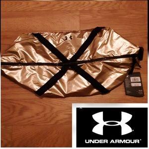 Metallic Gold Athletic Crossbody Bag- Under Armour